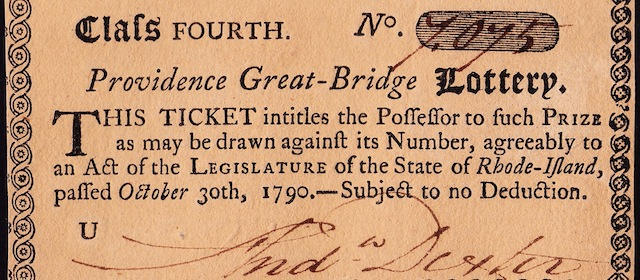 Providence Great-Bridge Lottery Tickets