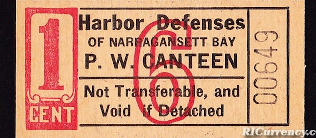 Harbor Defenses 1¢ POW Chit