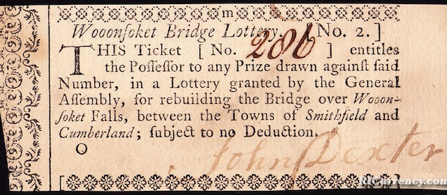 Woonsocket Bridge Lottery Ticket