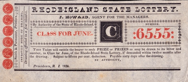 R.I. State Lottery Ticket