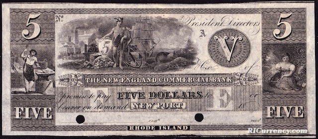 New England Commercial Bank $5
