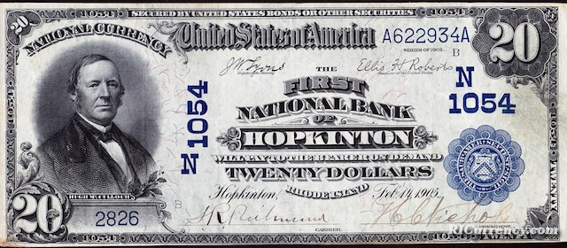 First National Bank of Hopkinton $20