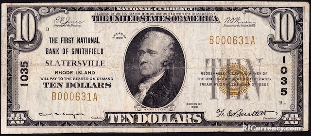 First National Bank of Smithfield $10