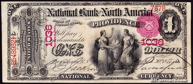 National Bank of North America $1