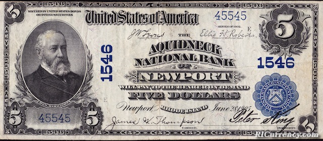 Aquidneck National Bank $5