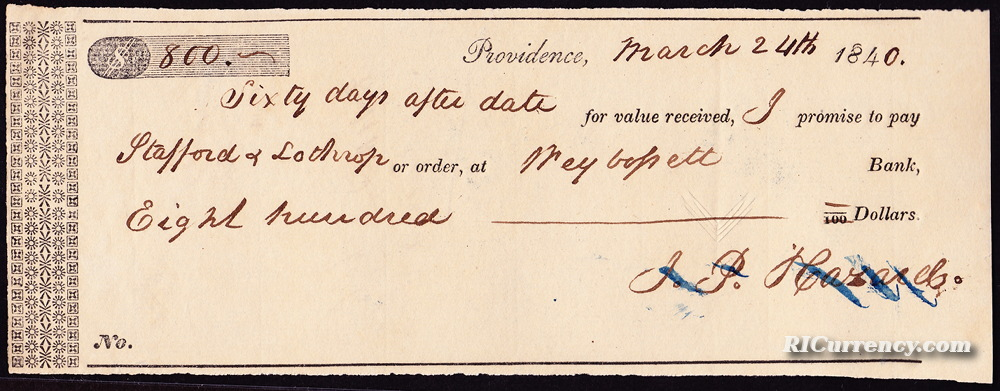 Check from 1840.