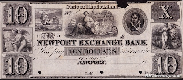 Newport Exchange Bank $10