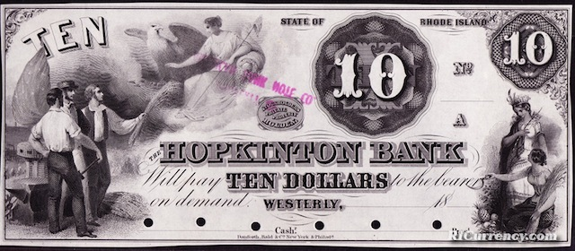 Hopkinton Bank $10