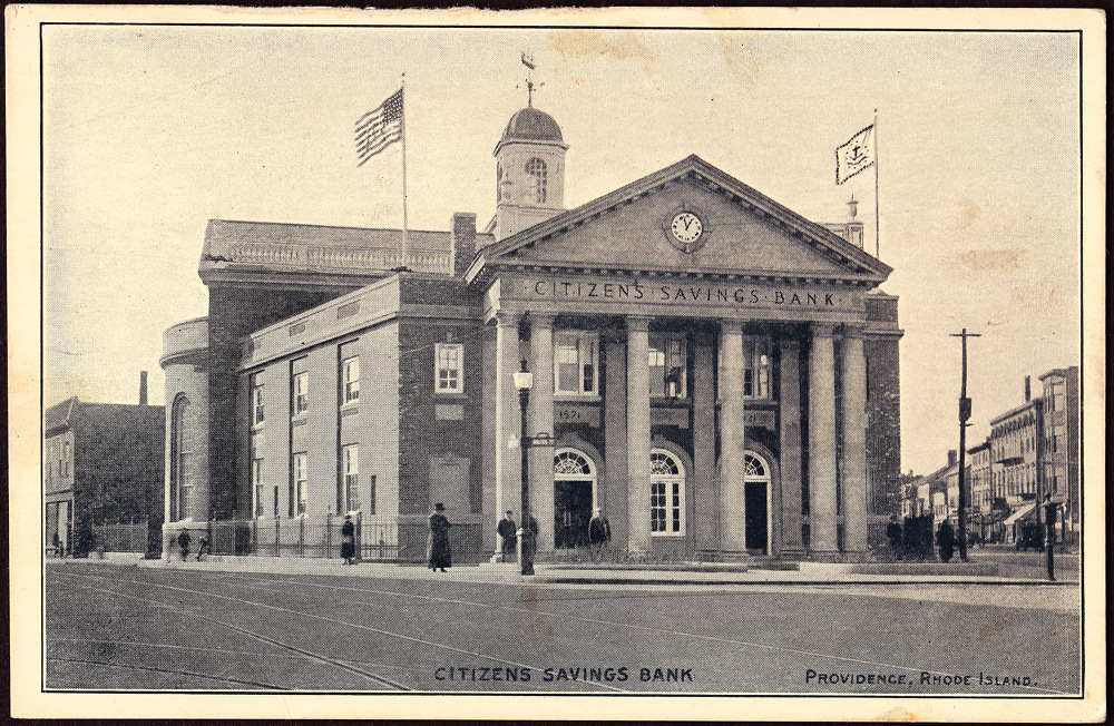 The Citizens Savings Bank building in Providence.