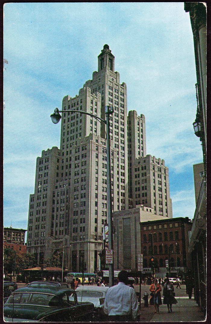Industrial National Bank building, circa 1960s.