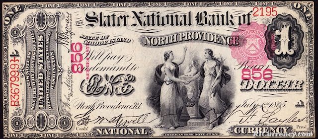 Slater National Bank $1
