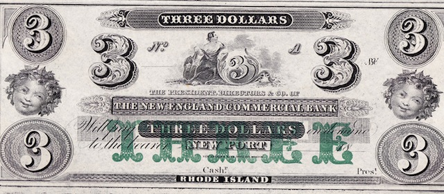New England Commercial Bank $1/1/2/3