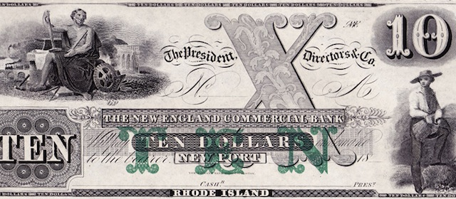 New England Commercial Bank $10/5/5/5