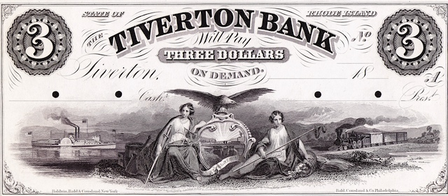 Tiverton Bank $1/1/2/3
