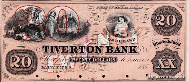 Tiverton Bank $5/5/10/20