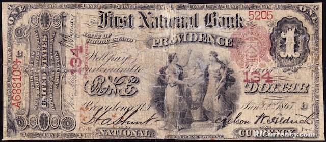 First National Bank $1