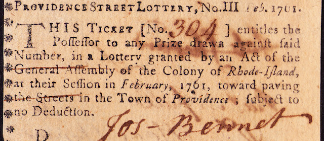 Providence Street Lottery Ticket