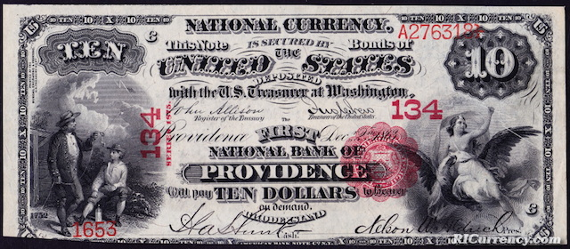 First National Bank $10