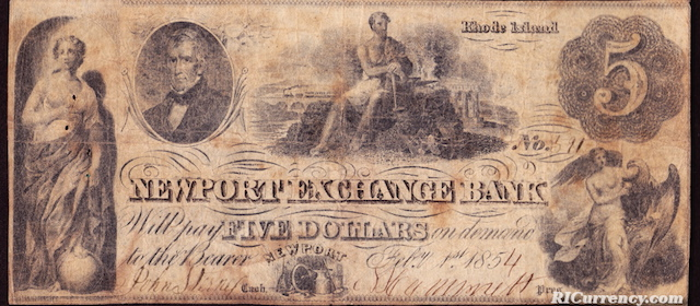 Newport Exchange Bank $5