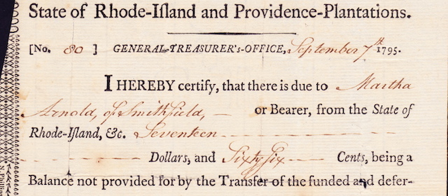 General Treasurer's Certificate $17.66
