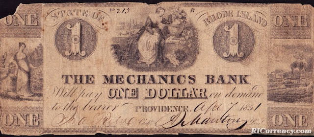 Mechanics Bank $1