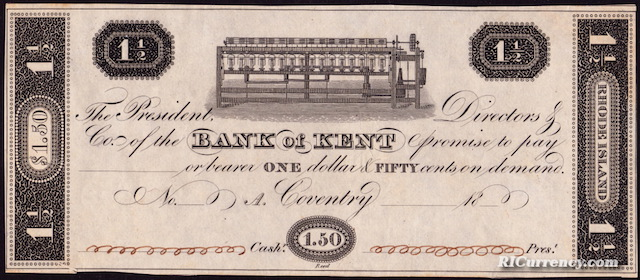 Bank of Kent $1.50