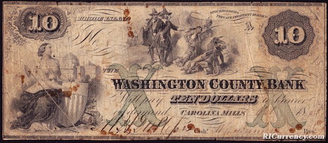 Washington County Bank $10