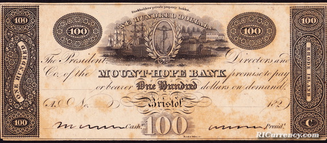 Mount Hope Bank $100