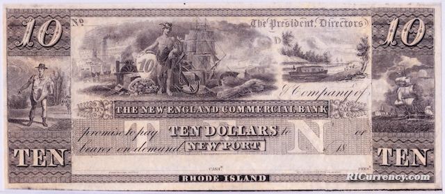 New England Commercial Bank $10