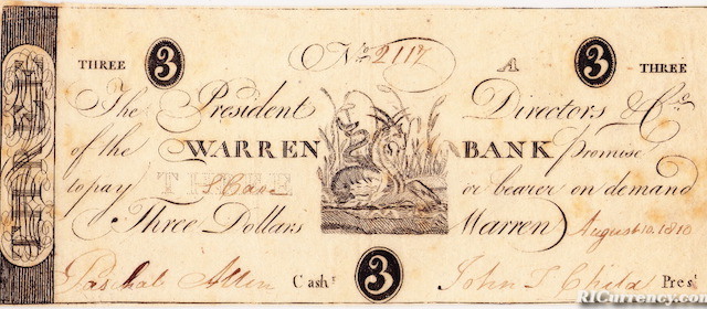 Warren Bank $3