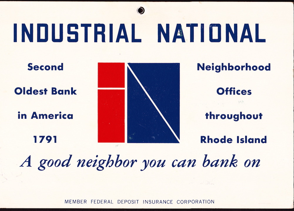 InBank sign from the 1970s.