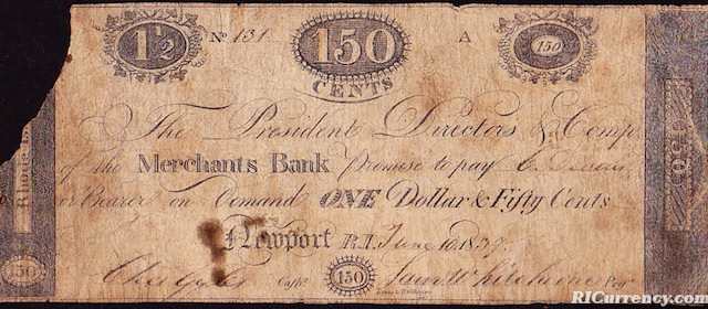 Merchants Bank $1.50