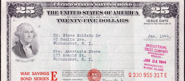 $25 War Savings Bond