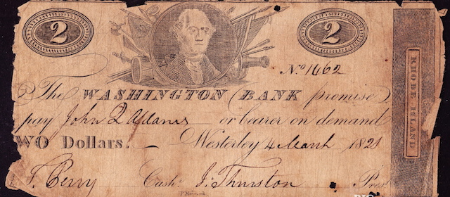 Washington Bank $2