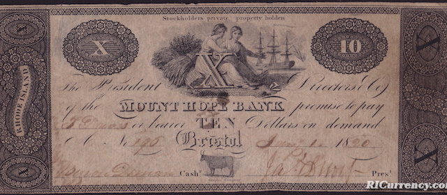 Mount Hope Bank $10